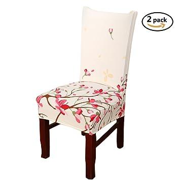 Hochwertig Esszimmer Stuhl Schonbezüge, SindeRay Abnehmbare Elastische Stretch  Slipcovers Esszimmer Stuhl Sitzbezug Dekor (2 Stück