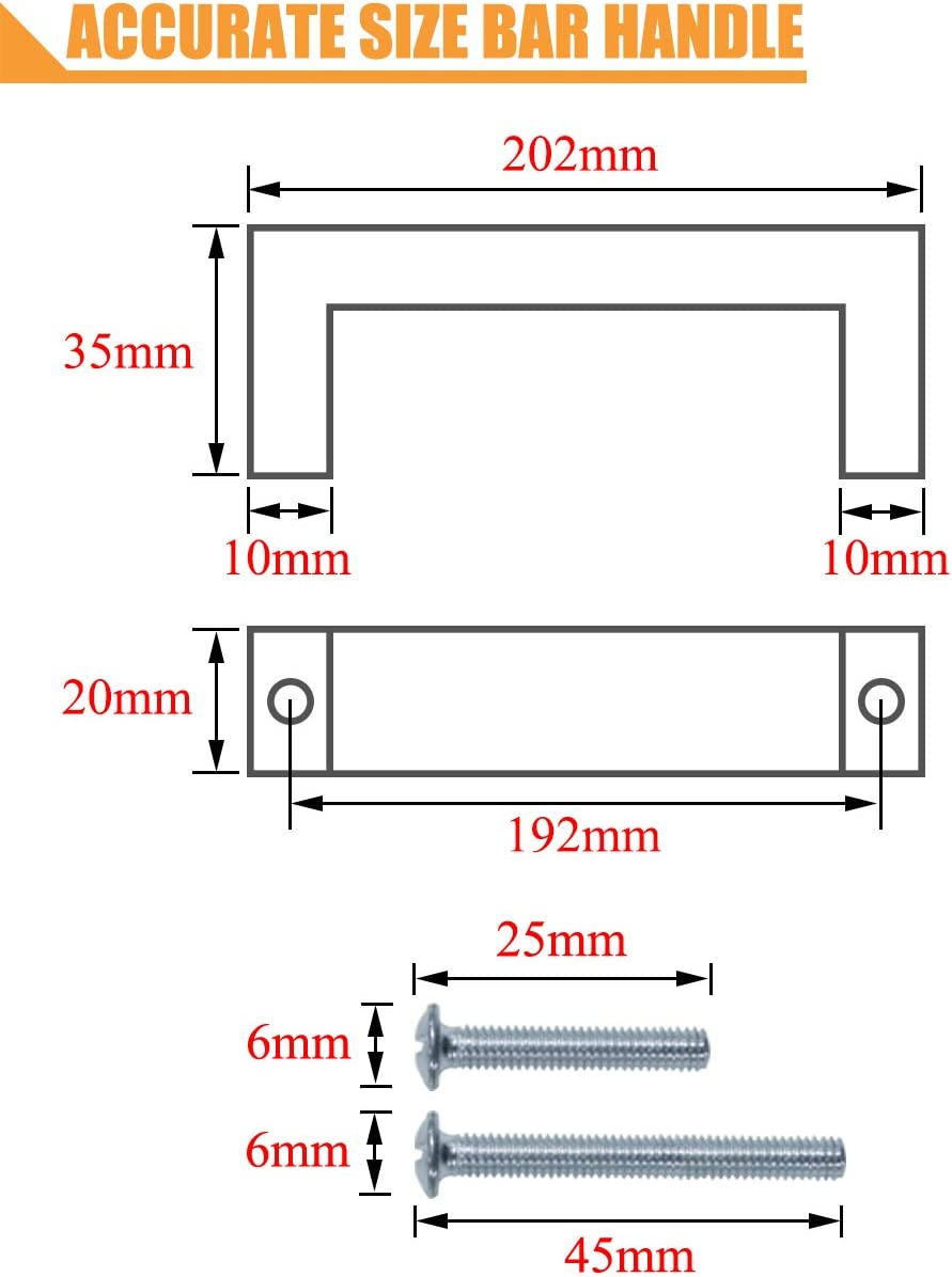 Hardware Cabinet Hardware Screws Included PinLin 10 Pack ...
