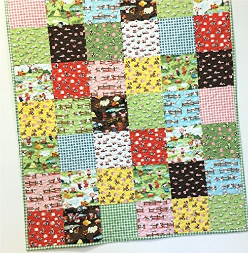 Farm Baby Quilt Country Nursery Crib Bedding Patchwork Handmade by Carlene Westberg Designs