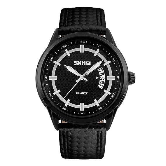 Los relojes de los hombres/reloj impermeable del cuarzo/personalidad,moda, reloj del negocio-Negro 42*10mm: Amazon.es: Relojes