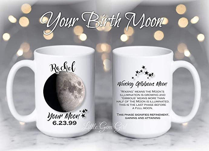 Amazon com: Your Custom Name, Date, Birth Moon Phase and Meaning