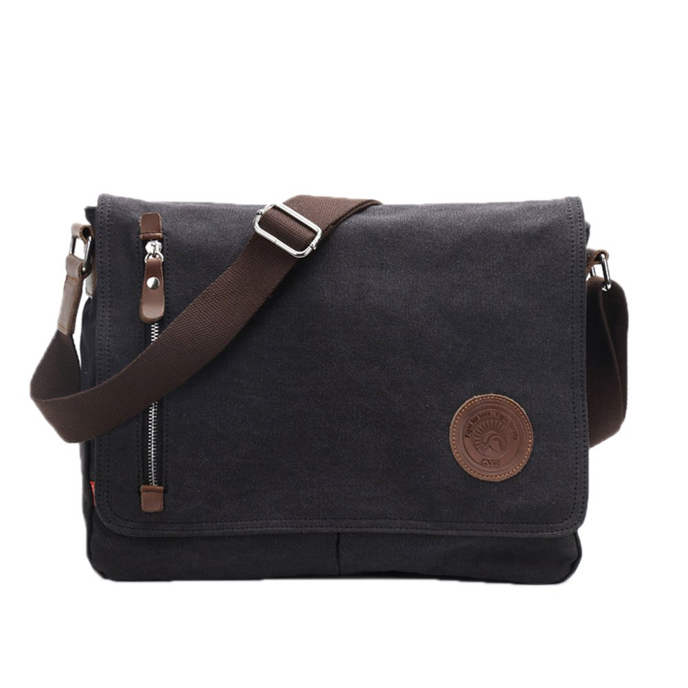 Life Boost Vintage Canvas Satchel Messenger Laptop Shoulder Crossbody Sling Bag Egoelife LB-BBPHF18