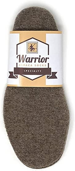 Provides Warmth and Comfort Alpaca Foot Inserts