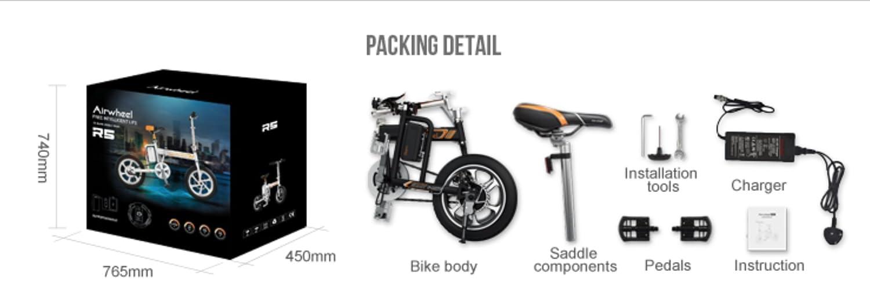 MyWay Brands eléctrico bicicleta plegable R5 Plus con marco de aluminio y Shimano, motor 36 V, 214.6 WH, encaja genial en cualquier Maletero, conducción en ...