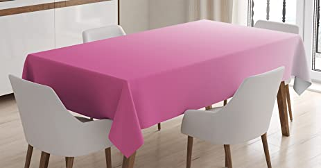 Ombre Tablecloth By Ambesonne Dream Love Dreamy Inspired Girly Color Modern Design Digital Art Print