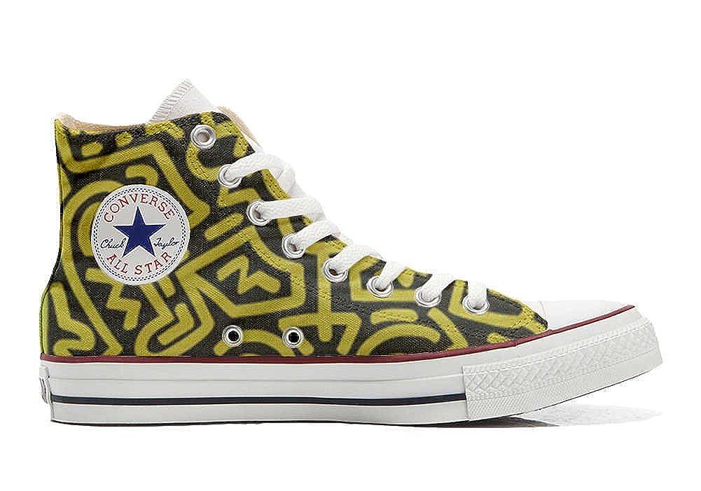 Mys Converse All Star Personalisierte Schuhe - Handmade Schuhes - Fantasia Astratta -