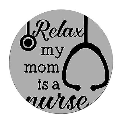 Amazon com : JONHBKD Round Play Mat My Mother is Nurse-Non