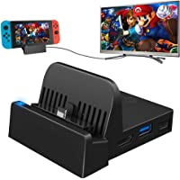 Ponkor Switch Docking Station, Portable Replacement Charging Dock for Official Nintendo Switch with USB 3.0 Port…