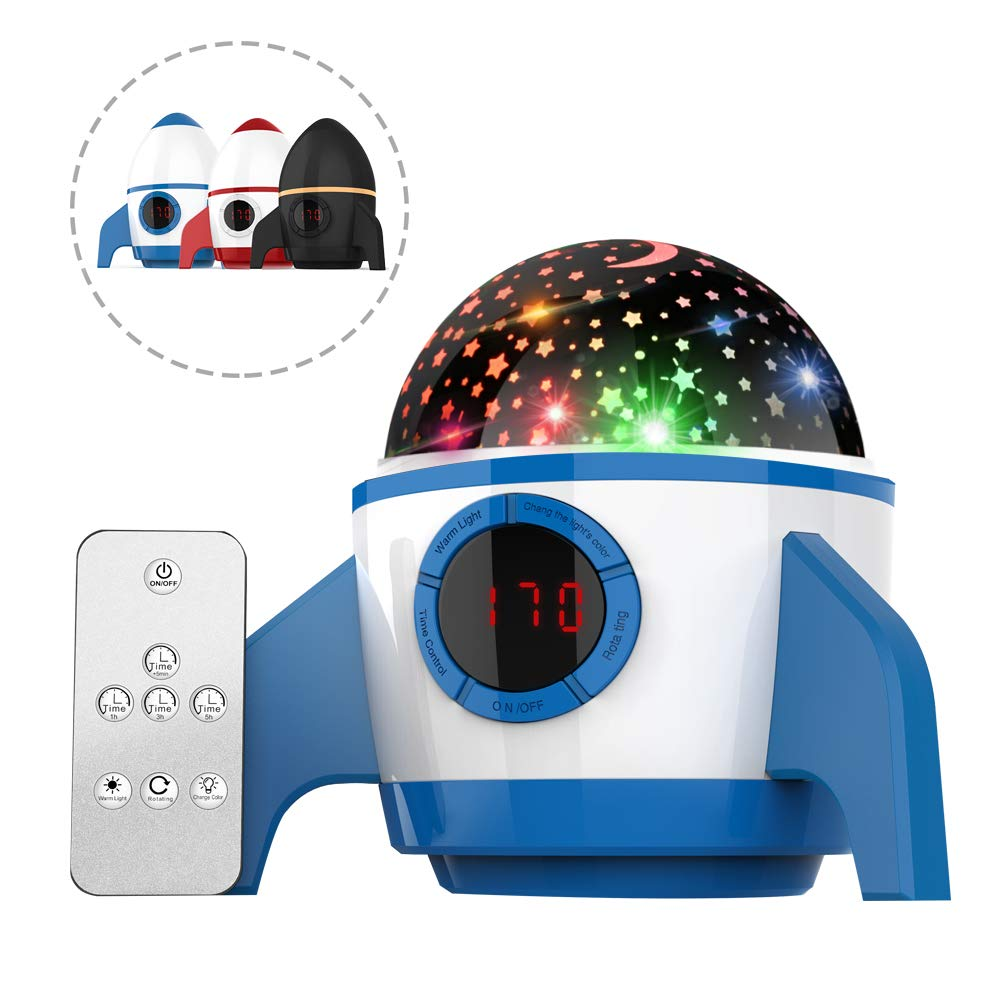Baby Night Light Projector, Galaxy Light Projector Starlight Projector Night Light Kids Star Projector Adults Remote Toys for Boys and Girls Best Gifts for Kids Children Birthday Gift (Blue)
