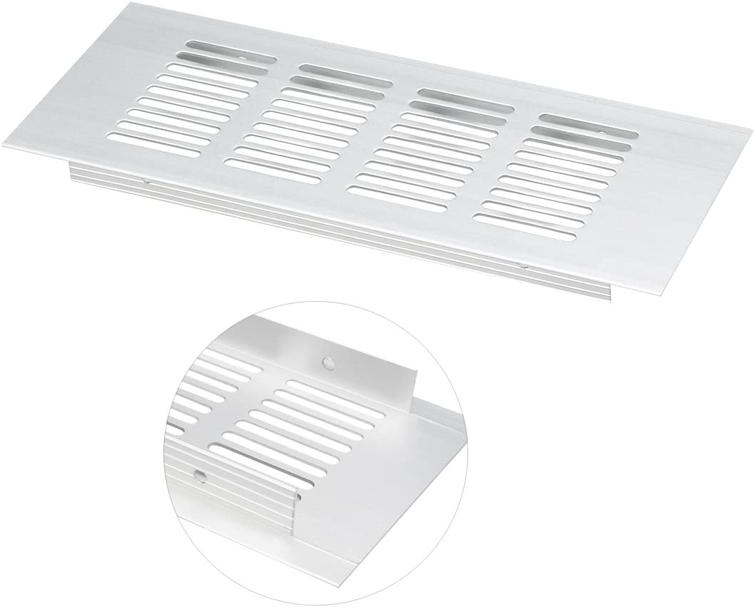 150mmx50mm Air Vent Ventilation Grille Aluminum Alloy Louvered Grill Cover 4pcs