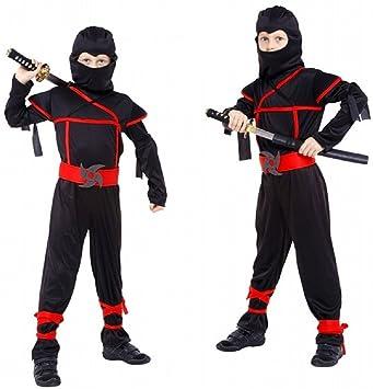 Carnaval del traje de Halloween Black Kids Ninja: Amazon.es ...