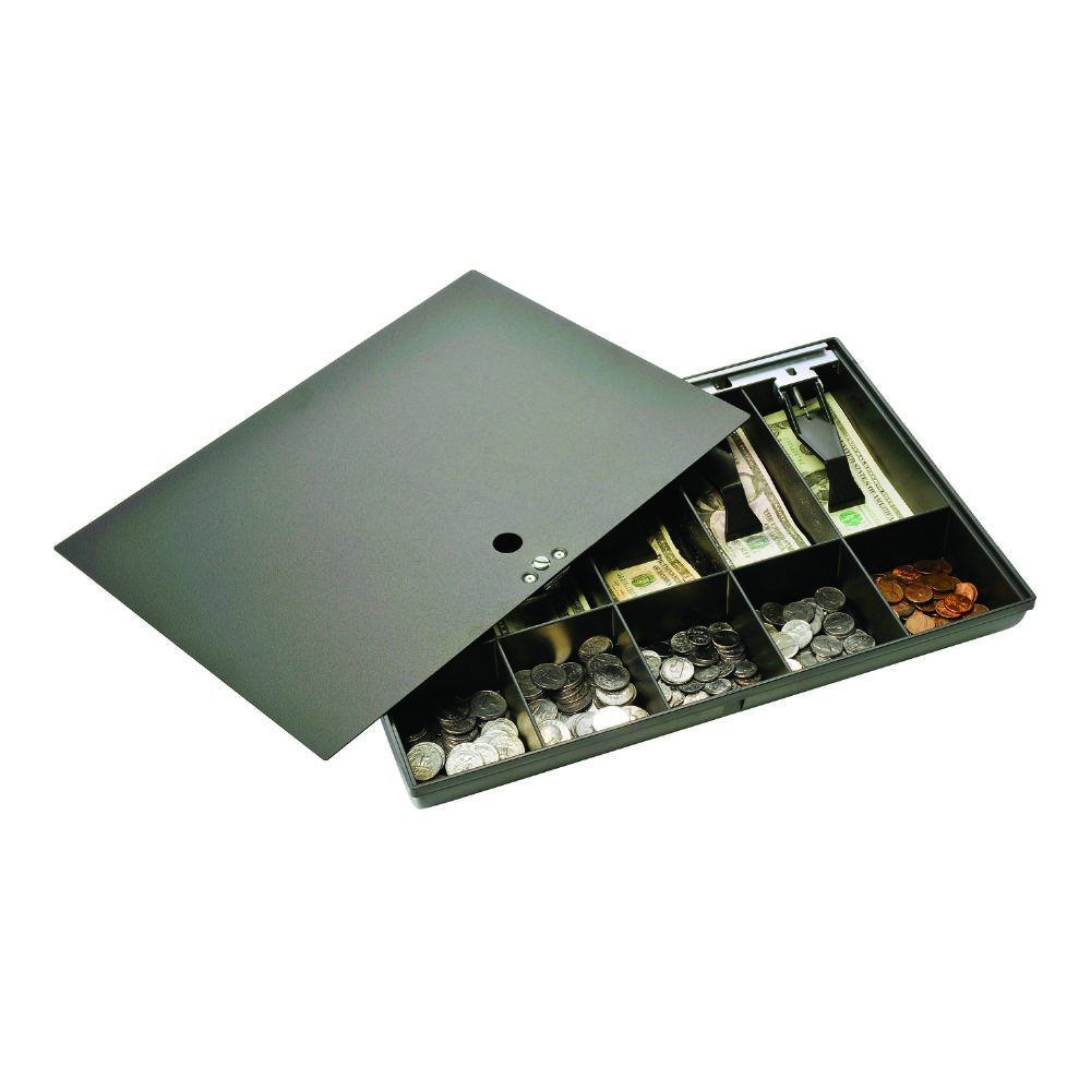 Duralite Large Replacement Cash Tray, Disk Tumbler Safety Locking Cover, Black (2252862PK04) by Duralite (Image #1)