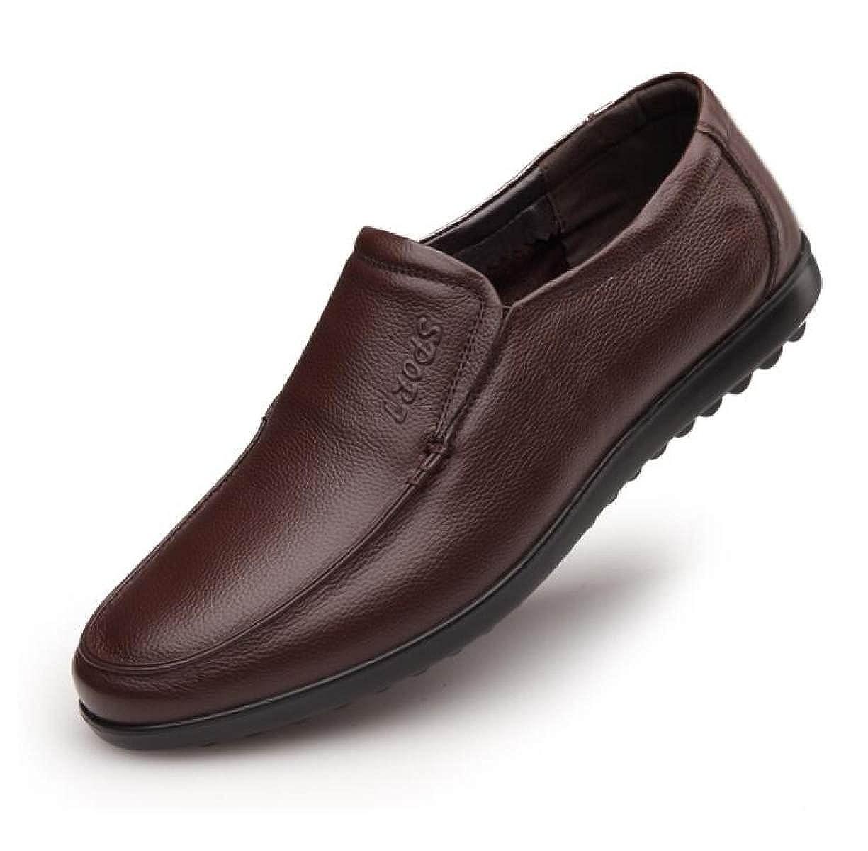 Männer Männer Freizeitschuhe Leder Weichen Boden Schuhe Mittleren Braun Alters Papa Schuhe Baumwollschuhe Braun Mittleren cd8787