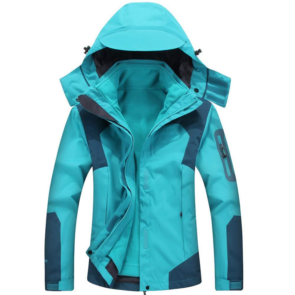 AiNaMei Frauen-Winter-Sommer-Herbst-Outdoor-Jacken sowie Samt-Bergsteigen-Skianzüge