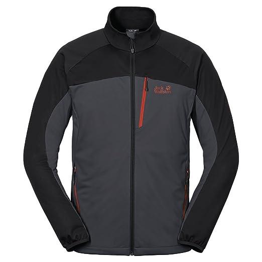 6456e2b82a0 Amazon.com : Jack Wolfskin Men's Crosswind Jacket, Ebony, X-Large ...