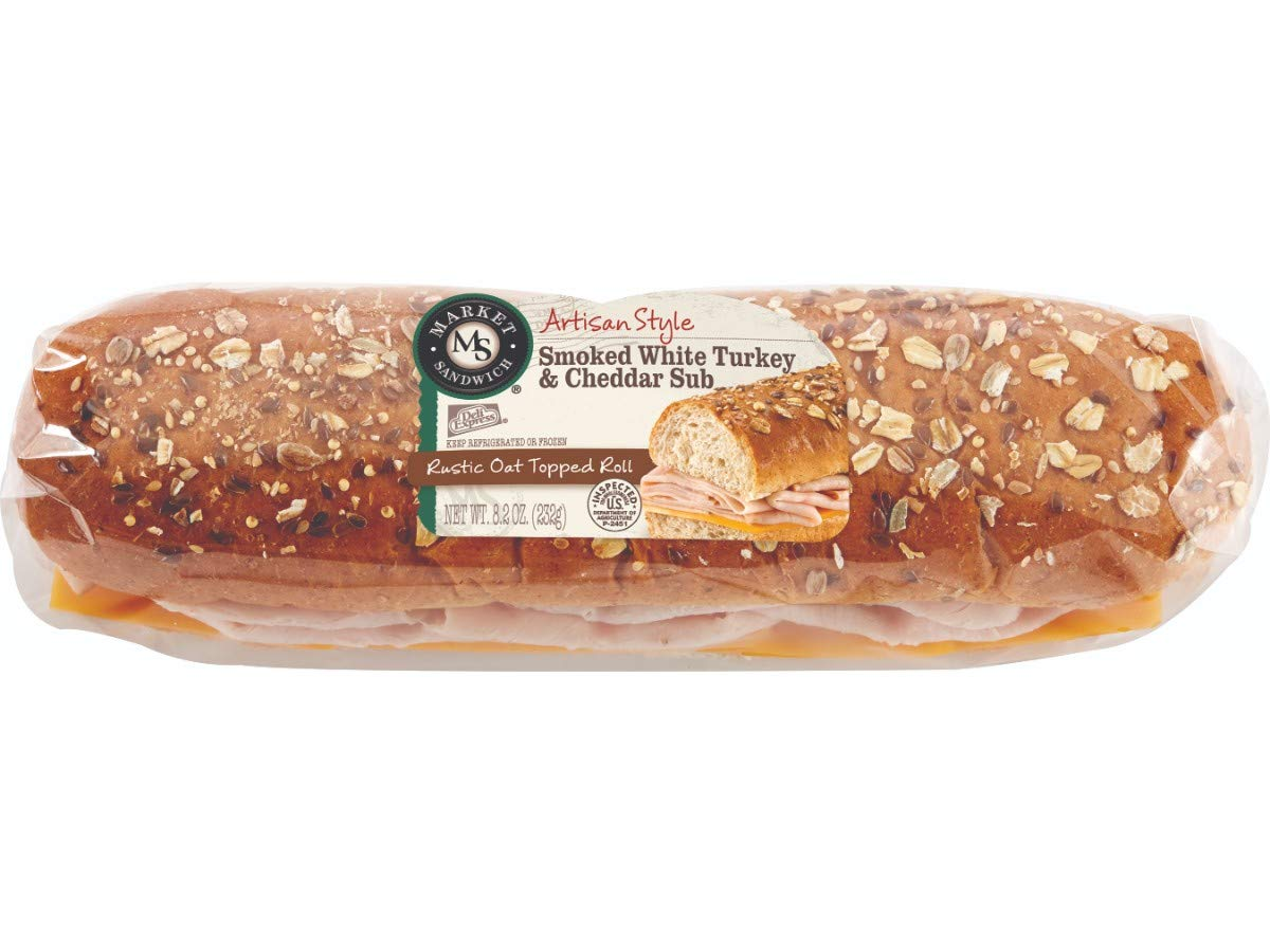 Deli Express Artisan Smoked Turkey and Cheddar Sub, 8.2 oz., (8 per case)