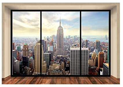 Foto Murales New York.Wall Mural New York City Skyline Penthouse Photo Wallpaper