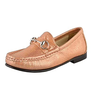 07754452186 Gucci Girl s Sparkle Leather Horsebit Loafer Shoes US 12 Gucci Sz 29  ...