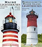 New England Lighthouses Map Pack - Maine, New Hampshire, Massachusetts & Rhode Island
