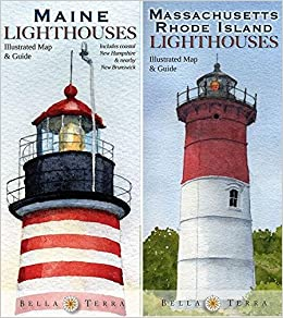 New England Lighthouses Map Pack Maine New Hampshire