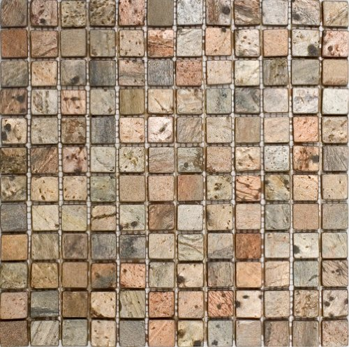 Epoch Tile CO1X1 1x1 Copper Tumbled Slate (Slate Bathroom Tile)