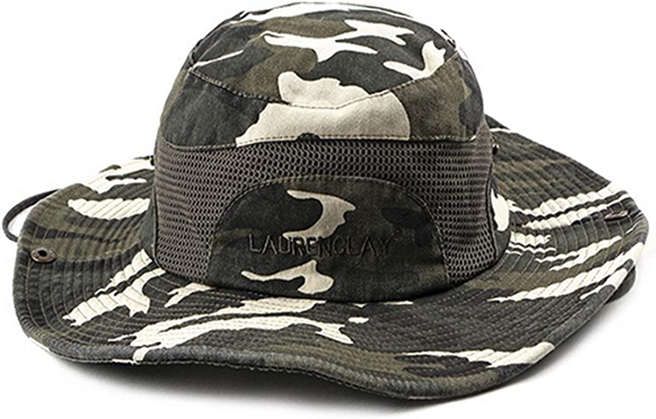 Sombrero de Sol para Pesca al Aire Libre Tian Fan Ni Sombrero de Pescador Camuflaje Gorro de algod/ón Bordado para Hombre