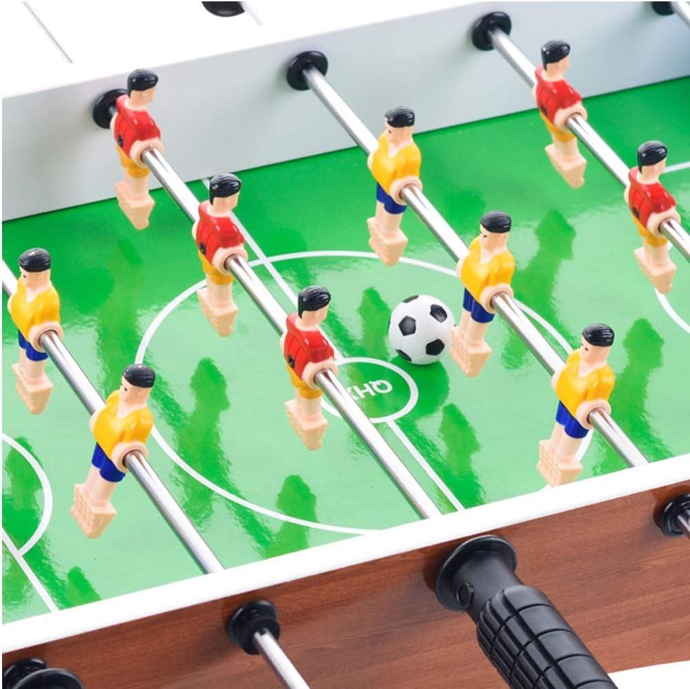 Mini Juego De Fútbol De Mesa De Madera Y Futbolín En El Interior Y En El Exterior Incluye 18 Hombres 2 Pelotas 2 Goleadores 50 X 25 X 12,5 Cm Juguete De