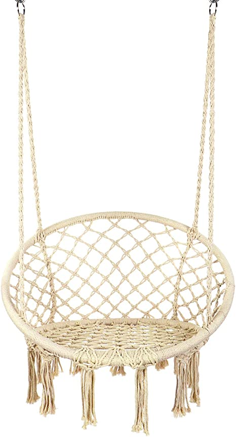 Y-STOP Hammock Chair Macrame Swing - The Best Hanging Hammock Chair Nest