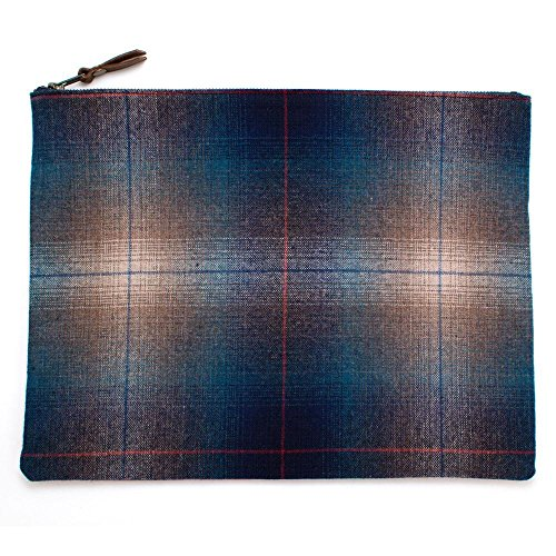 1960s Rockport Plaid & Nantucket Red Laptop Sleeve/Large Carryall (1960s Wool Red)