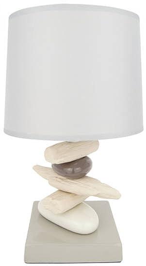 Lampe Galets Et Bois Flotte A Poser Zen Attitude Amazon Fr Cuisine