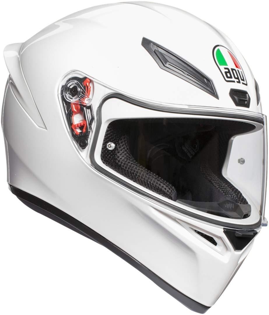 White AGV K1 E2205 Solid Helmet Size Large