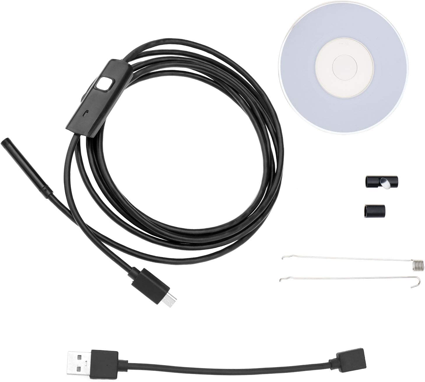 USB Endoskop Inspektion Kamera Borescope Wasserdicht mit 6 LED Leuchten f/ür Android /& Win XP//7//8//9//10 2m