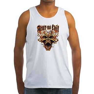 Royal Lion Mens Tank Top Fear No Evil Flaming Skull