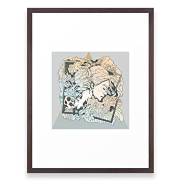 Amazon.com: Society6 BROKEN FRAMES Framed Print Conservation Walnut ...