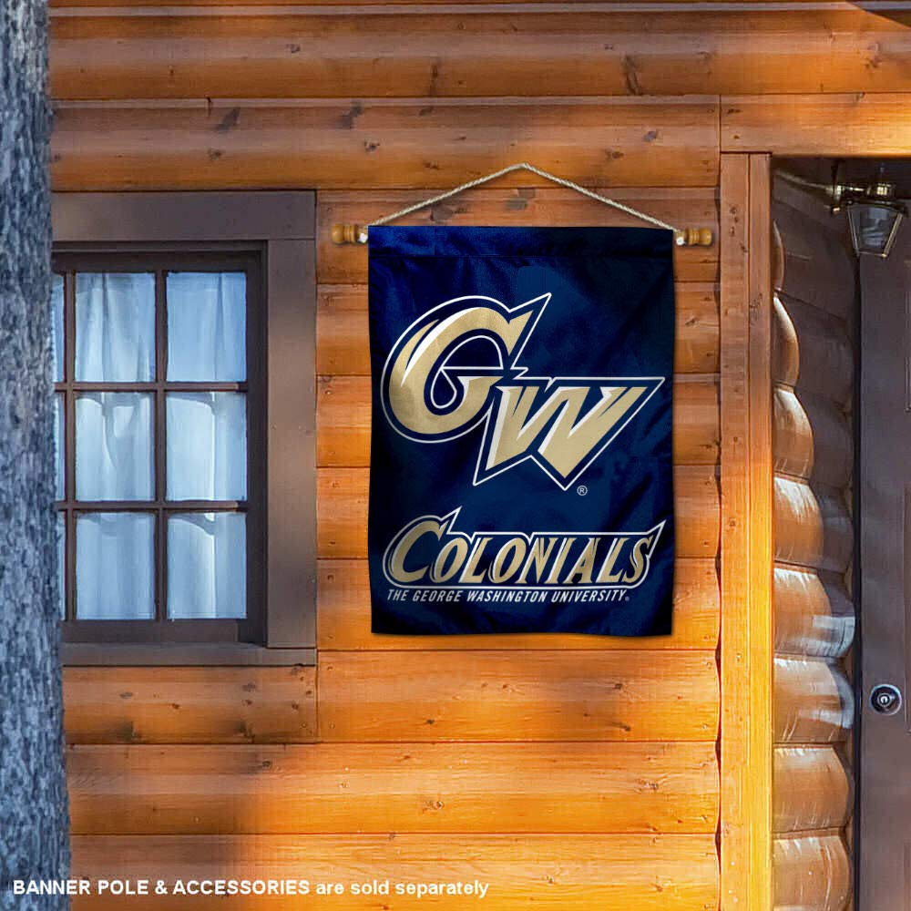 College Flags and Banners Co George Washington Colonials Banner House Flag