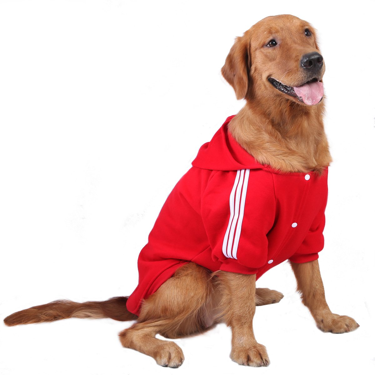 Red 4XL Red 4XL Dog Coat for Large Dogs,Pet Sweater Warm Hooded Sports Clothe,Red,4XL