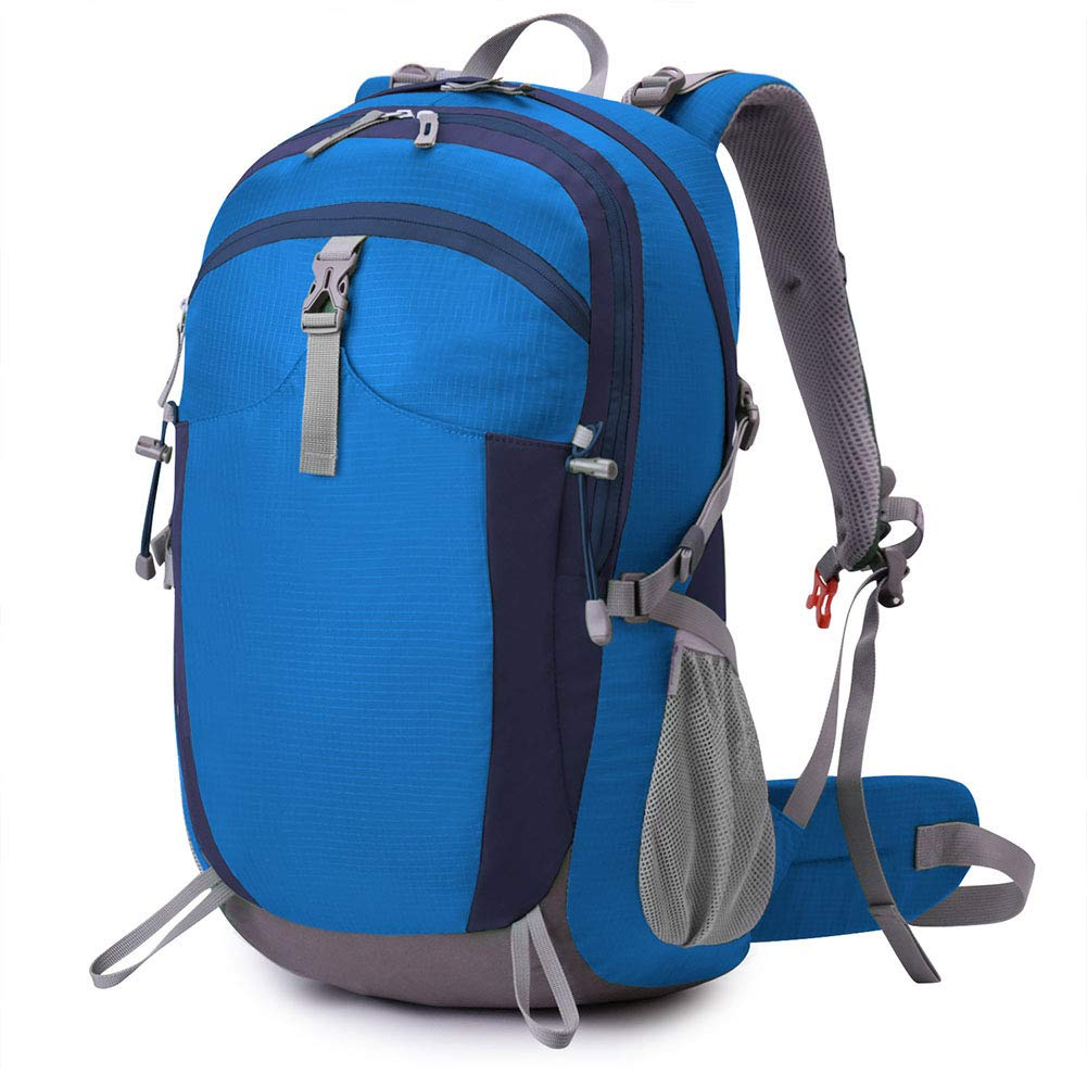 Bleu L 40L Grande capacité extérieure Sac à Dos Voyage Camping Loisirs randonnée Multi-Couche Sport imperméable Sac à Dos Nylon Sac à Dos