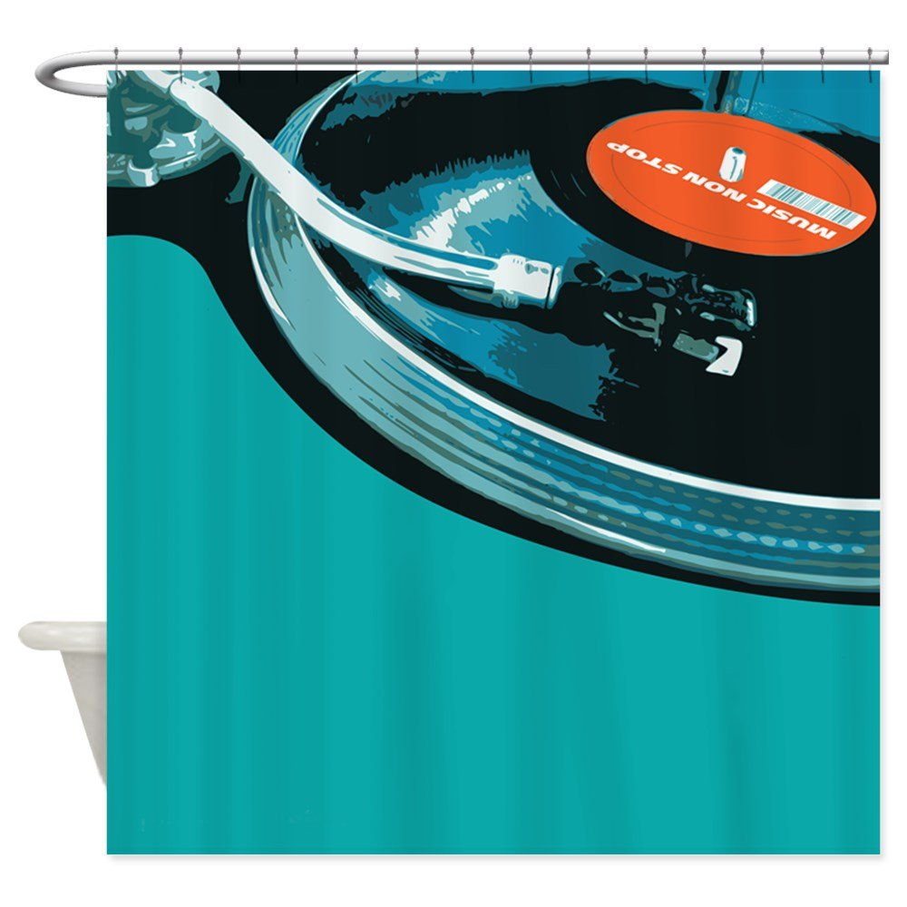 CafePress - Tocadiscos Vinilo DJ diseño de lunares cortina de ...