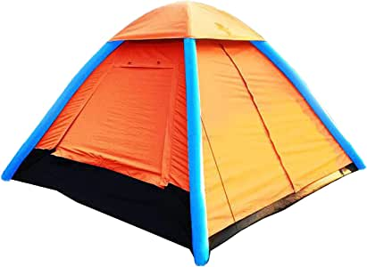 4 Person Inflatable Camping Air Pop Up Tent Waterproof for Beach, Camp, Travel, Hiking, Survival with Air Pump