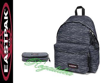 9961702950350 Rucksack Schule Eastpak Padded Grau Schwarz City Backpack Knit Grey + Etui  Geldbörse Dachträger Eastpak