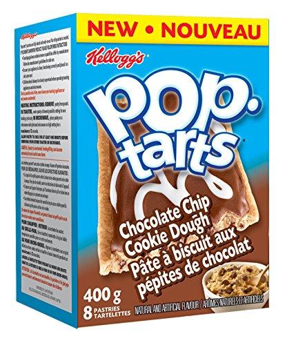 Kelloggs Pop Tarts Toaster Pastries, Chocolate Chip Cookie Dough 8 Pastries 400 Gram