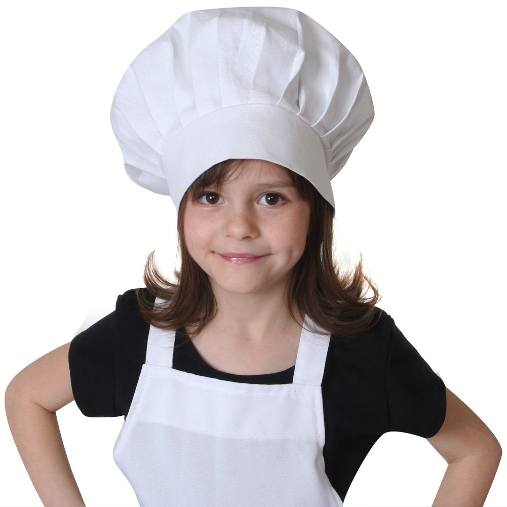 Making Believe kids Adjustable White Chef Hat COMINHKPR116919