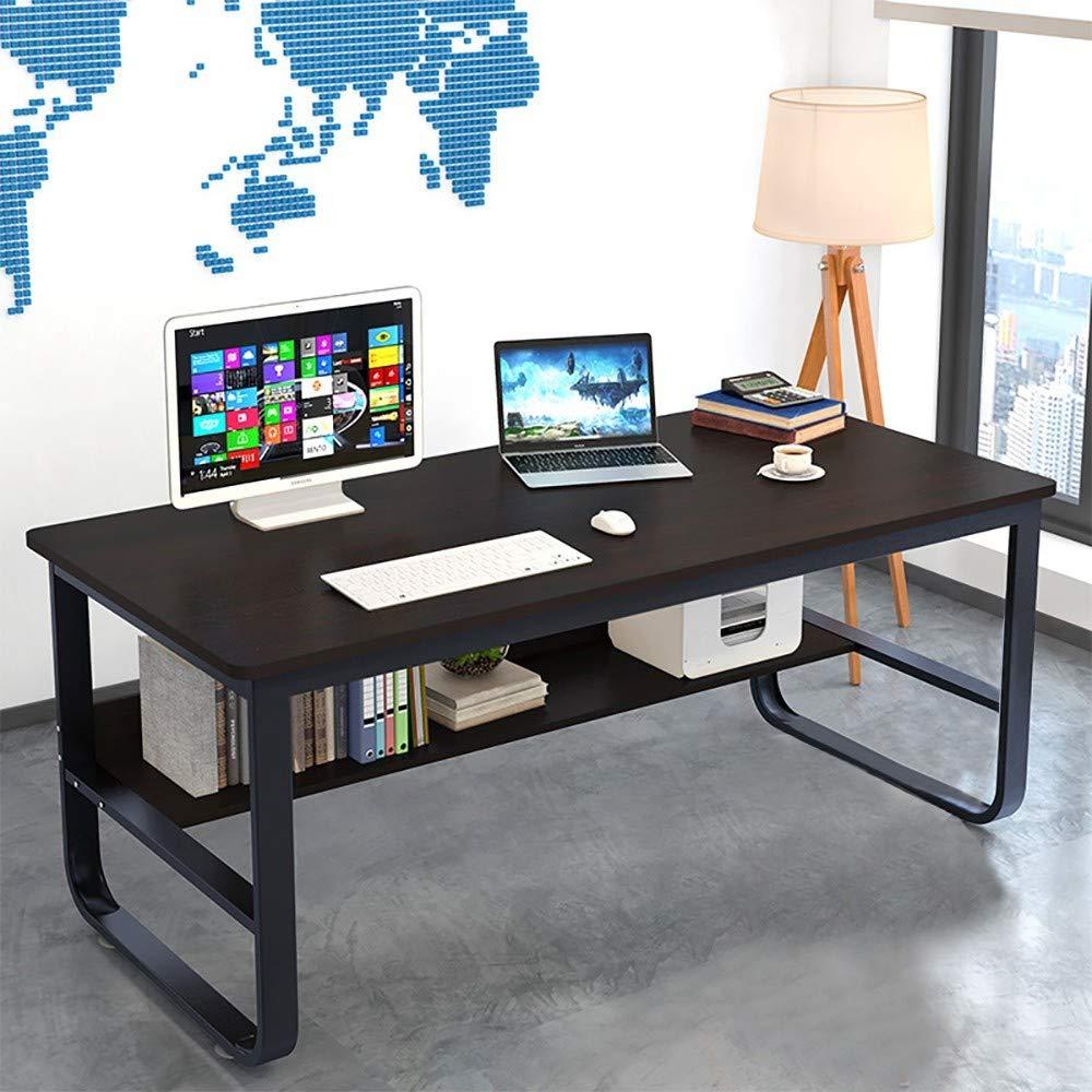 KCPer Simple Home Desk Student Writing Desktop Desk Modern Economic Computer Desk, Home Office Bedroom Furniture Indoor Desk US Stock