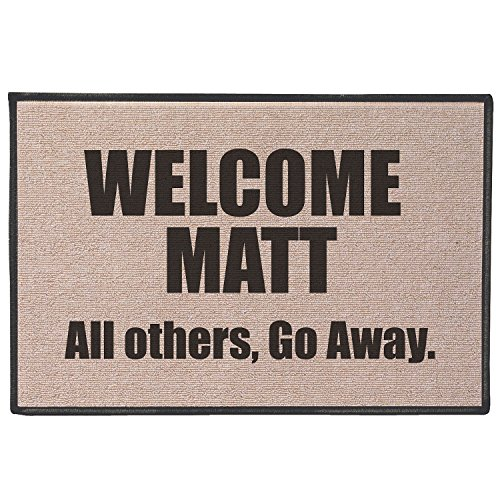 - WHAT ON EARTH Welcome Matt Funny Quirky Humorous Doormat - Fits Standard Doorway - 27