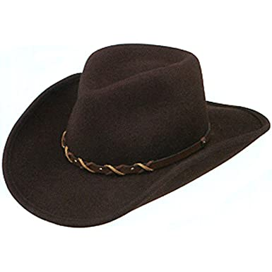 1bf524e09c716 Stetson Summit Crushable Western Hat-Cordova-L at Amazon Men s Clothing  store