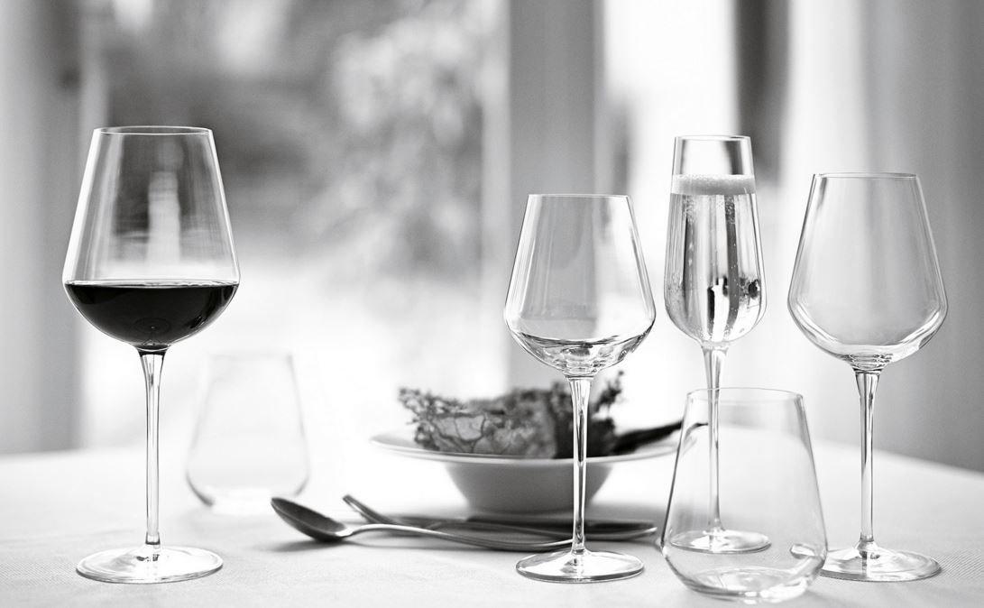 Bormioli Rocco Inalto Tre Sensi Large Wine Glasses - Gift box Of 6 Glasses - 550ml (18.5oz) SP41766