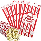Tomnk 100pcs Paper Popcorn Bags, 1oz (Bags)