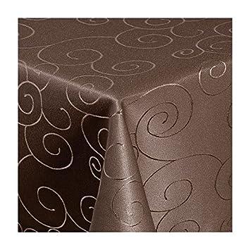 Tischdecke Maßanfertigung Ornamente-Design 140 cm breit Farbe und Länge wählbar