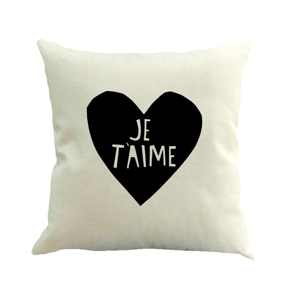 Amazon.com: Throw Pillow Cover, DaySeventh Happy Valentine Pillow Cases Linen Sofa Cushion Cover Home Decor Pillow Case F 18x18 Inch 45x45 cm: Home & ...