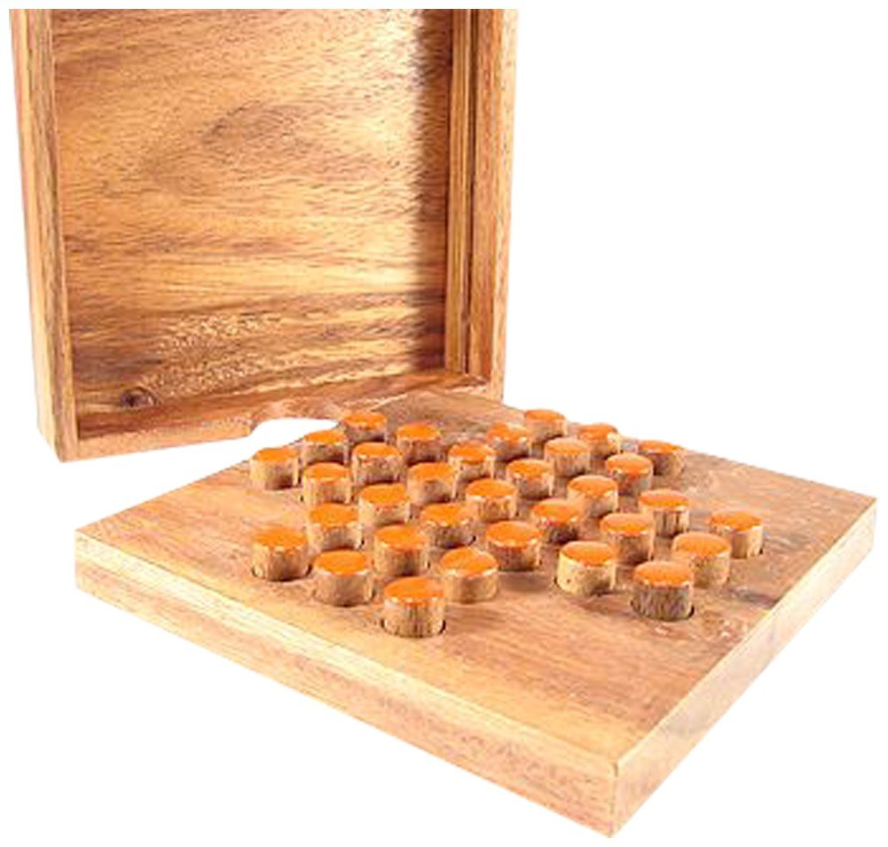 The Braille Store Wooden Solitaire Board Game